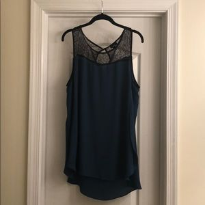 Missimo XL Teal Tank with Lace